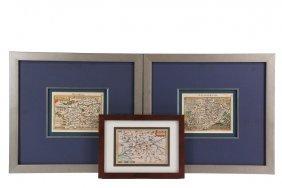 (3) Scarce Maps - Abraham Ortelius (1527-1598)/philip