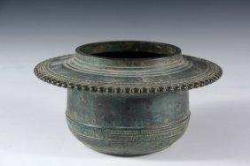 Asian Bronze Bowl - Lavishly Decorated Bronze Hindu