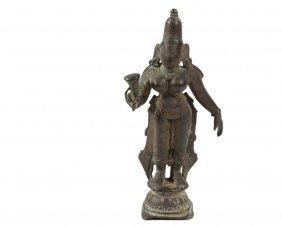 Continental Indian Bronze Miniature - Standing Figure