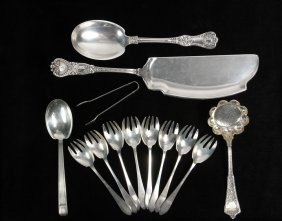 Tiffany Sterling - (13) Pcs Of Sterling Silver Flatware