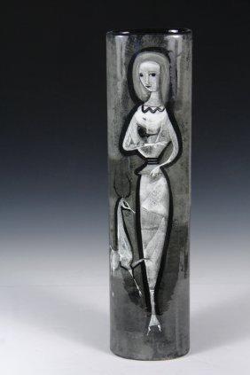 "Polia Sunockin Pillin (nm/ca, 1909-1992) - ""oval Vase,"