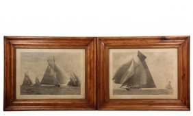 (2) Yachting Photographs - Monumental Prints Of The