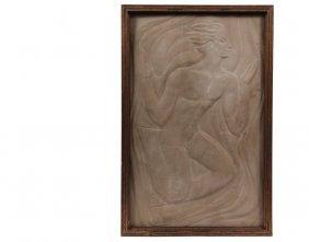 Sandstone Wall Plaque - Art Deco Bas Relief Stone