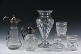 (6) Pcs Crystal - Collection Of (6) Crystal Vessels,
