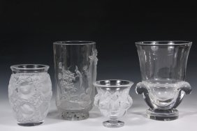 Vases - Group Of (4) French And American Art Glass