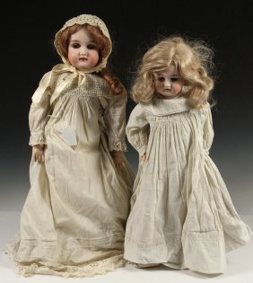 (2) German Bisque Dolls - Early 1900s, Including: 28""