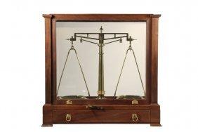 Large Cased Balance Scale - Fine Quality Pharmaceutical