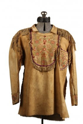 Native American Clothing - Fine Metis Cree Embroidered
