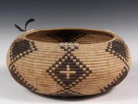 Fine Native American Basket - Pomo Indian Coil Built