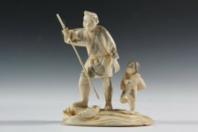 19th C. Japanese Carving - Meiji Period Cabinet Figure