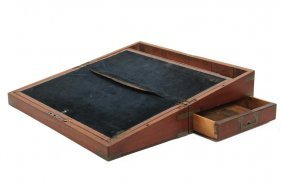 Civil War Soldier's Desk - Brass Bound Rosewood Case