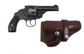 H&r Revolver In Holster - Harrington & Richardson .38