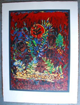 DAVID C. DRISKELL - Color Silkscreen And Relief