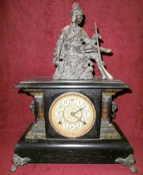 Sessions Mantle Clock With Man Hunter Topper