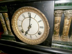 Waterbury Clock Mantle Clock With Egyptian Woman