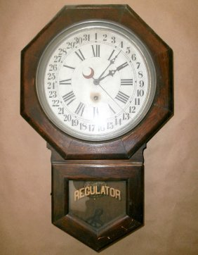 Oak Sessions Calendar Regulator Clock