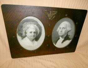 Print Of George And Martha In Presidential Frame
