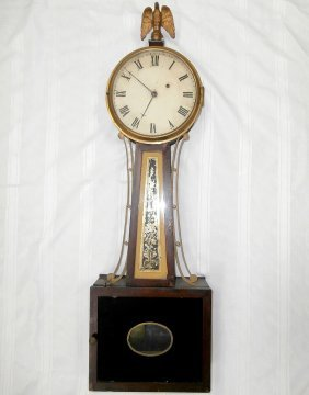 Early 19th C. Weight-driven Banjo Clock