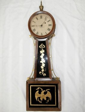 Early 19th C. Willard Weight-driven Banjo Clock