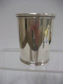 Presidential Sterling Silver Julep Cup.  LBJ - John