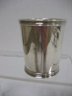 Trees Sterling Silver Child's Beaker.