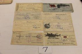 (8) Checks - 1906 - Ringer Stove Co.; 1914 - Reed Ma