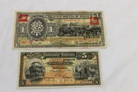 Mexico Currency: 1914 5 Peso El Banco Peninsular Me