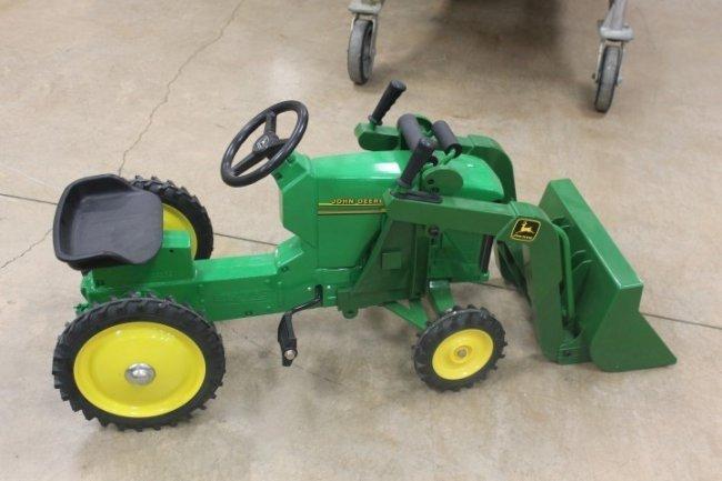 Metal Pedal Tractor Loader : Ertl john deere pedal tractor with loader lot