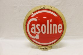 "13 1/2"" Old Gasoline Face On An Old Capco Body With"