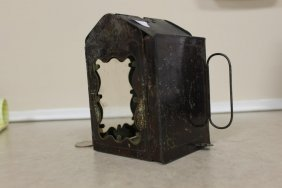 Patented Jan. 24th 1865 Folding Tin Candle Lantern With