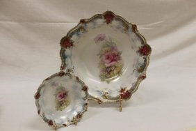 Red Mark Rs Prussia Floral Berry Set With 5 Bowls With