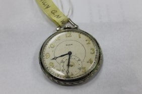 Elgin G.m. Wheeler 12 Size Pocket Watch With Elgin 14k
