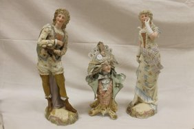 "Bisque: Pair 16"" Victorian Lady And Gentleman. The"