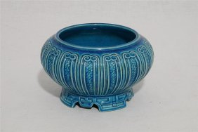 Chinese Blue Glaze Porcelain Incense Burner With