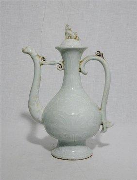 Chinese Monochrome Porcelain Wine Bottle