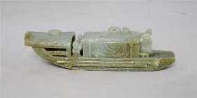 Nice Hand Carved Chinese Jade Boat