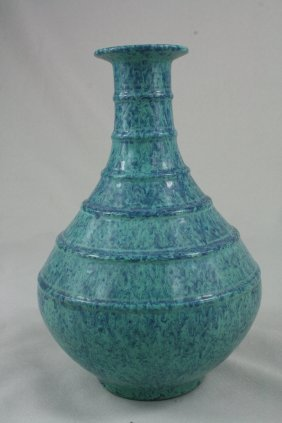 Chinese Flamb�-Glazed Porcelin Bottle Vase