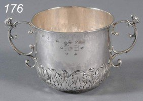 """CHARLES II STERLING CAUDLE CUP Hallmarked """"IC"""" Lon"""
