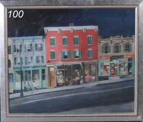 "LOUIS LIONEL STERN City Street In Summerf 19""x23"""