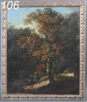 ATTRIBUTED TO JOHN (OLD) CHROME Wooded Landscape W