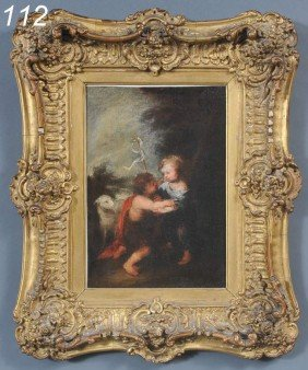 "OLD MASTER John The Baptist 11"" X 7 3/4"" Oil On Ca"
