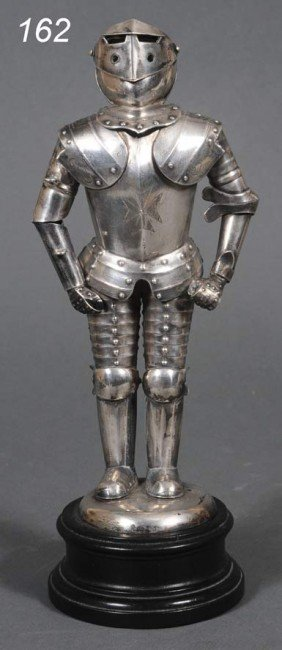 CONTINENTAL .800 SILVER SUIT OF ARMOR With Moving