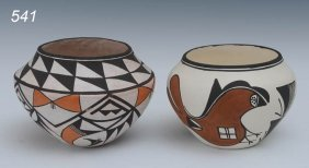 PAIR OF ACOMA POTS One Signed Lucy Lewis Larger 6