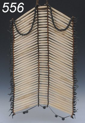 SIOUX HAIR PIPE BREAST PLATE With Hide And Bell Fr