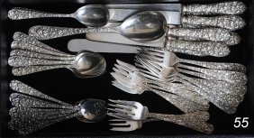 STEIFF REPOUSSE STERLING FLATWARE 41 Pieces 38 Troy