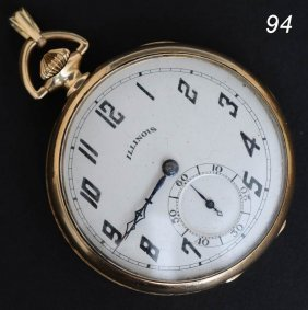 ILLINOIS 14K GOLD POCKET WATCH 39 Dwt Gross   Shipp