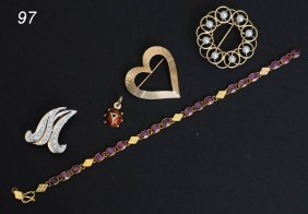 GROUP OF JEWELRY Including 14k Tiffany & Co Heart P