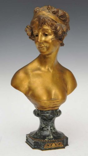 Bronze Bust Of A Maiden