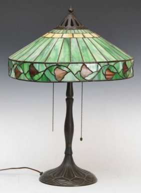 Handel Oak Leaf Table Lamp