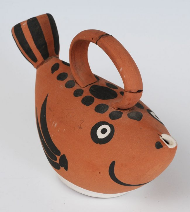 Pablo Picasso Madoura Fish Shaped Water Pitcher Lot 7